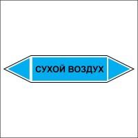 Знак безопасности «Сухой воздух - двусторонние направление»
