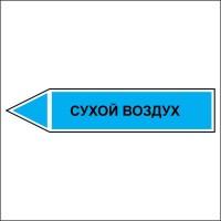 Знак безопасности «Сухой воздух - направление движение налево»