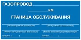 Знак безопасности «Закрепление границ зон обслуживания»