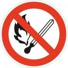 Знак безопасности Запрещается пользоваться открытым огнем и курить