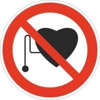 Знак безопасности Запрещается работа людей со стимуляторами сердечной деятельности