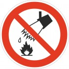 Знак безопасности Запрещается тушить водой