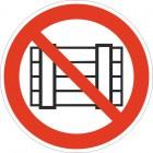 Знак безопасности Запрещается загромождать проходы и (или) складировать