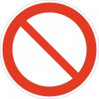 Знак безопасности Запрещение (прочие опасности или опасные действия)